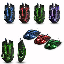 2400DPI ESTONE X9 6D Optical 6 Buttons USB Wired Gaming Mouse Mice for WOW RAZER