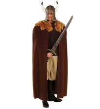 Cape de guerrier viking, game of thrones médiéval robe fantaisie marron peluche