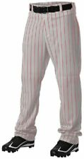 Alleson 605Wpny Pinstripe Yth Pant Grey/Scarlet/Med