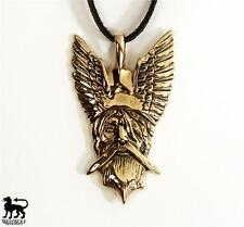 Viking Pendant of Odin --- Norse/Medieval/Gold/Bronze/Skyrim/Jewelry/God/Father
