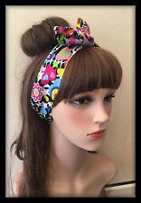 Multicoloured Headband Bandana Hairband Neck Scarf Rainbow Fabric Hippy Hair Tie