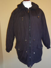 Women's Towne London Fog Black Parka Light Winter Hooded Jacket Coat in size M