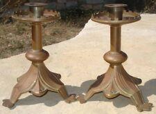 -Candleholders Jugendstil Bougeoirs Bronze Art Nouveau