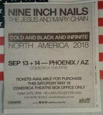 Nine Inch Nails Cold And Black And Infinite 2018 Tour Newspaper Ad Clipping NIN
