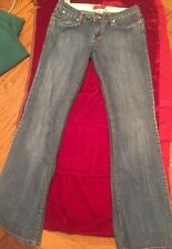 1.8 by YMI cotton blend blue jeans JUNIORS size 7 Flare Bottom!