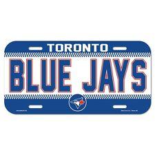 "TORONTO BLUE JAYS 6""x12"" OFFICIAL LOGO LICENSE PLATE CAR BRAND NEW WINCRAFT"