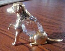 Crystal Palace Manon Gold Dog Crystal Body 1984 Small 7cm