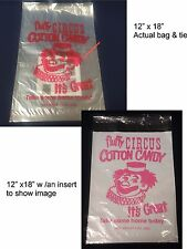 25 pcs Cotton Candy Bags, Printed w/ Twist Ties,* Free Shipping*