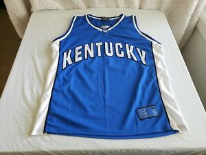 """Brand new vintage Colosseum Athletics brand, """"KENTUCKY"""" basketball jersey in XL"""