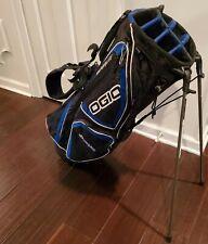 Ogio Vaporlite woode 8-Way Divider Golf Stand Bag, Blue/Black Dual strap