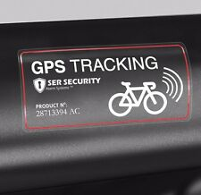 2 WARNING STICKER- Bicycle GPS Tracking Device, Bike Anti Theft System Installed