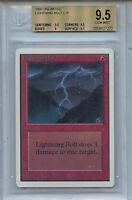 MTG Unlimited Lightning Bolt BGS 9.5 Gem Mint Card Magic Amricons 7272