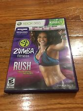 Zumba Fitness Rush Xbox 360 Game Complete Free Shipping!