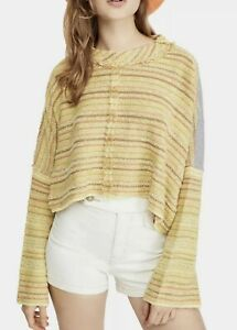 Free People CATALINA Pullover Weich Sonnenuntergang Kombination GRÖSSE XS Bnwts