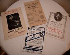 Vintage 1919 Music Program Wieting Lucrezia Bori Harold Bauer Aeolian Ny