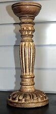 GRANDE Intagliato Vero Legno Candeliere-fatto a mano in India Portacandela Vintage