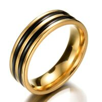 Classic Men Tire Ring Stainless Steel Punk Rings For Male Wedding Women Jewelry