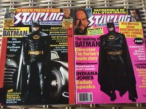 2 Vintage Starlog Magazines Featuring Batman-Michael Keaton 1989