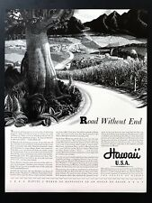 1941 Vintage Print Ad 40's HAWAII Travel Illustration Stow Wengenroth Art