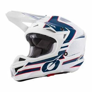 O'Neal unisex-adult Road Helmet White/Blue/Red XL