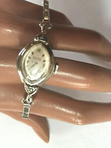 Vintage Gruen Precision Swiss Damenuhr 1/20 10 K Gold filled Diamanten weißgold