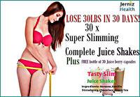 Lose 30lb in 30day Complete Slim Plan*Diet Juice Shakes plus Free Berry Capsules