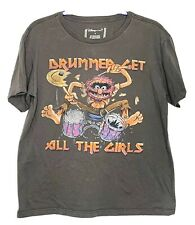 Muppets Animal Drummer T Shirt Grey Size S