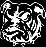 Bulldog #3 1 Color Window Wall Vinyl Decal Sticker Printed Mascot Graphic