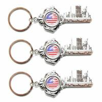 12pcs US//NYC Souvenir NEW YORK American Map State Liberty Key Chain KeyRing N210