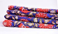 2.5 Yard Indian Blue Hand Block Print Cotton Voile Fabric Sewing Cotton Fabric