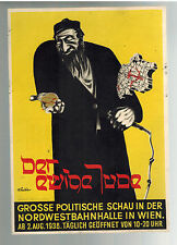 1938 Vienna Germany Postcard Cover Eternal Jew Movie Promo with Cancel