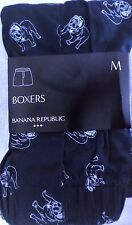 Mens Size Medium 32-34 Banana Republic Bulldog Design Cotton Boxer Nwt