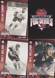 2005/06 QMJHL St.John's Fog Devils Team Issued Set