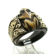 Fine Frog Bone Sterling Silver 925 Ring 7g Sz.9.25 TOM636
