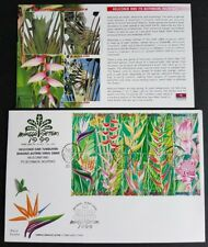 1999 Malaysia Heliconia Flower Plant (Stamp Week 4th Series) 10v Stamps FDC