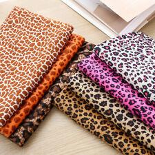 1M Leopard Print Flannelette Fabric Faux Fur Cotton Upholstery Clothes Material