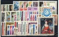 MONACO STAMP ANNEE COMPLETE 1972 : 49 TIMBRES NEUFS xx TTB