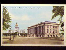 CO - # 15661 DENVER - PUBLIC LIBRARY & STATE CAPITOL