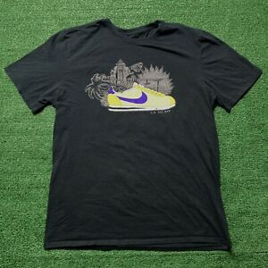 Nike Cortez T Shirt LA All Day Hollywood Lakers Graphic Swoosh Logo Size Large