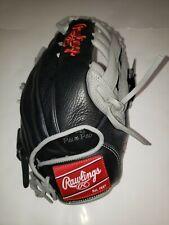"Rawlings Pro Select Series 12.5"" Baseball Glove, Black/Grey, Right Hand Throw"