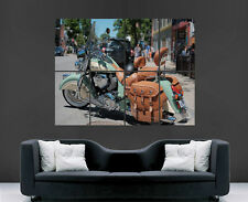 INDIAN CHIEF MOTOCICLETTA BICI CLASSICA USA POSTER WALL ART PICTURE PRINT LARGE