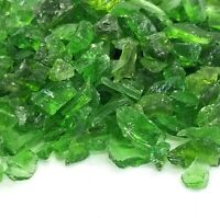 "Green Premium 1/4"" - 1/2"" Premium Fire Glass for Fireplace and Fire Pit"