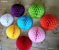 3pack Hanging HONEYCOMB BALLS PAPER Birthday Wedding Baby Shower Party Christmas