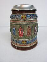 Creussen Pottery German Beer Stein 1680 Style Apostles & Jesus Corzelius