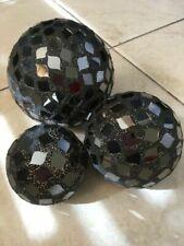 Figuras decorativas negras de cristal para el hogar