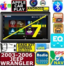 03-06 Jeep Wrangler Apple Carplay Android Auto Bluetooth Touchscreen Package