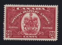 Canada Sc #E8 (1938) 20c dark carmine Special Delivery Mint VF H