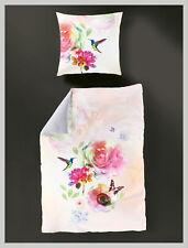 Bierbaum Mako-Satin Bettwäsche Digital Blumen süß verspielt 135x200 cm  5129