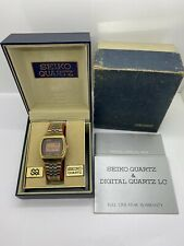 Very Rare Vintage 1976 Seiko 0532-5019 Digital LCD Watch W/ Original Box