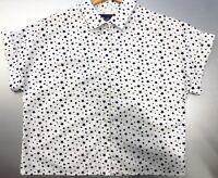 New Women's Size 8 Cotton Star Printed Cropped Boxy Shirt by Saffron Finch